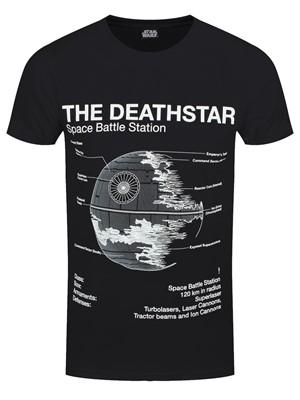 Star Wars Death Star Sketch Men's Black T-Shirt