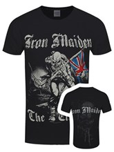 iron maiden sketched trooper mens black t shirt