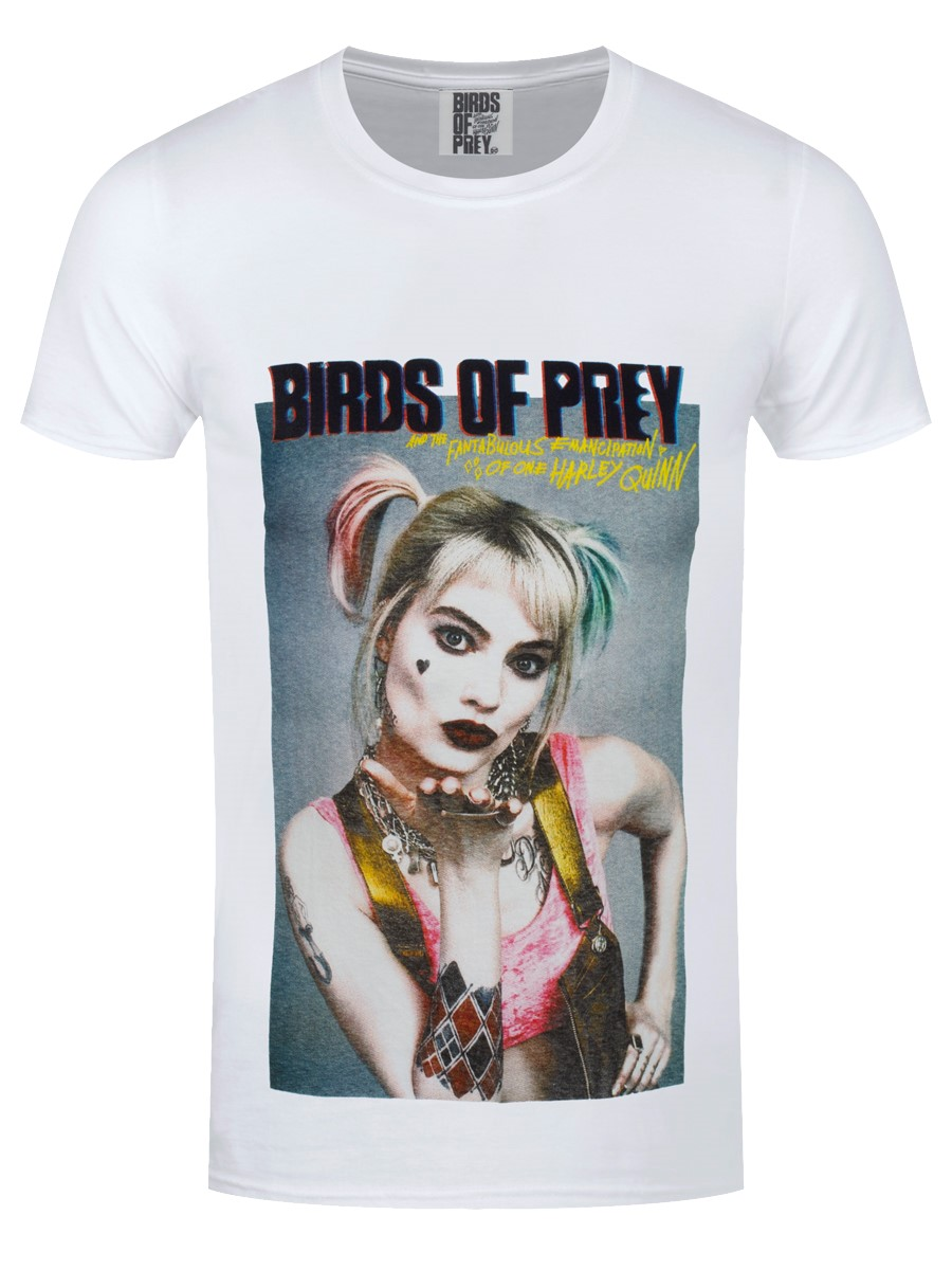 Birds of Prey Harley Quinn Gradient Poster Official DC Comics Black Women Tshirt