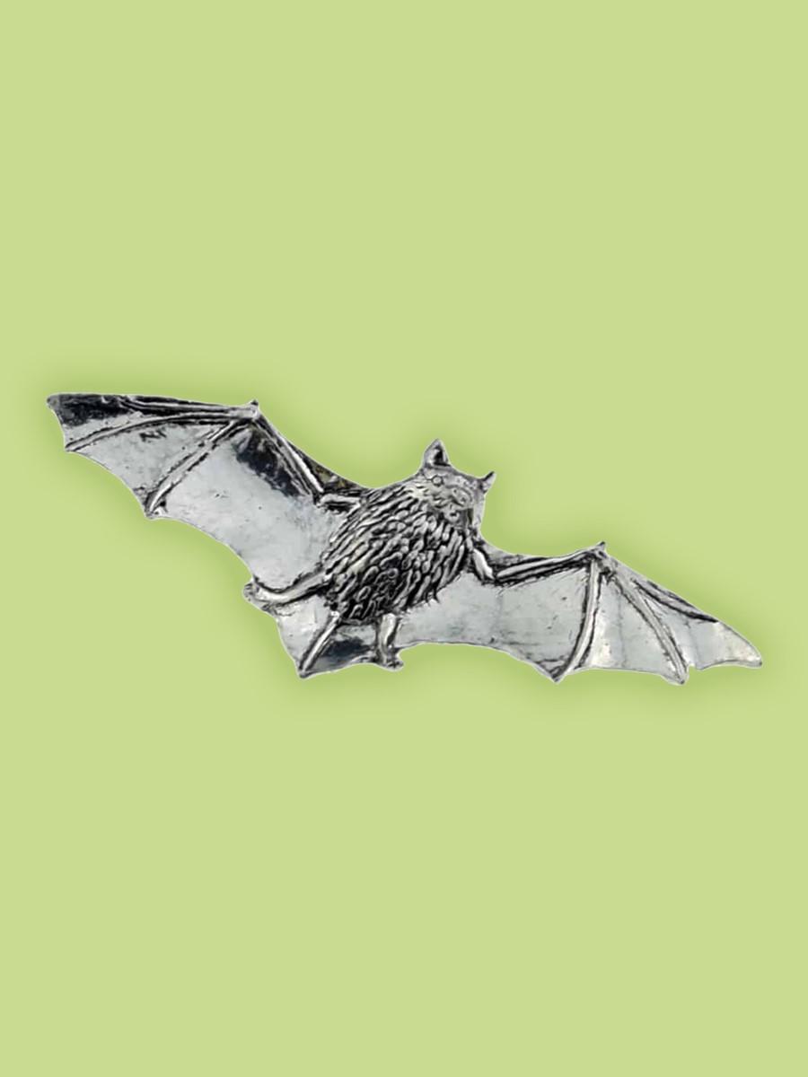 Night Wing Bat Pewter Pin Badge