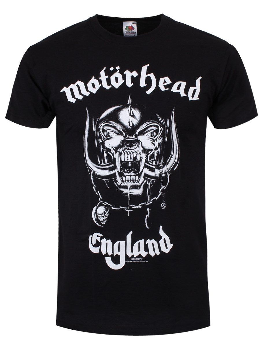 Black t shirt mens - Motorhead England Mens Black T Shirt