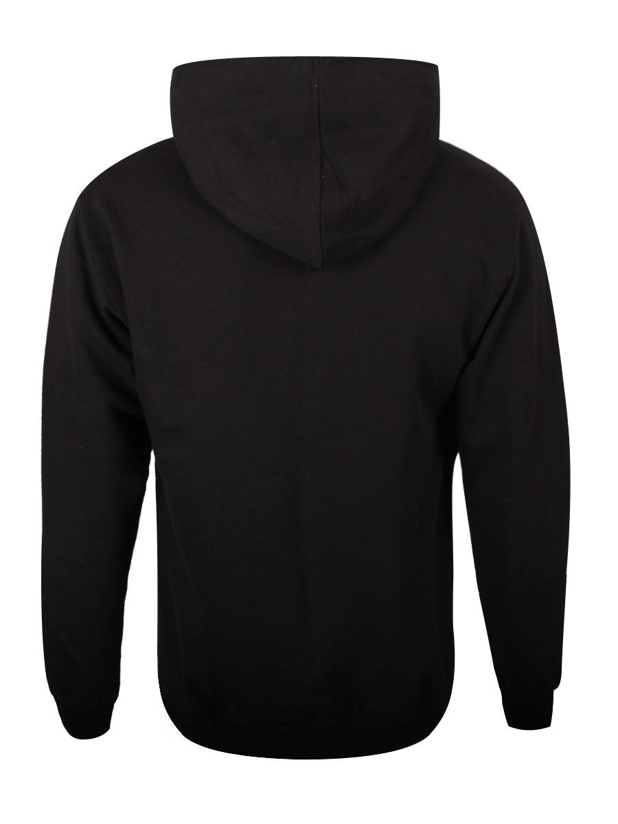 Plain black zip hoodie