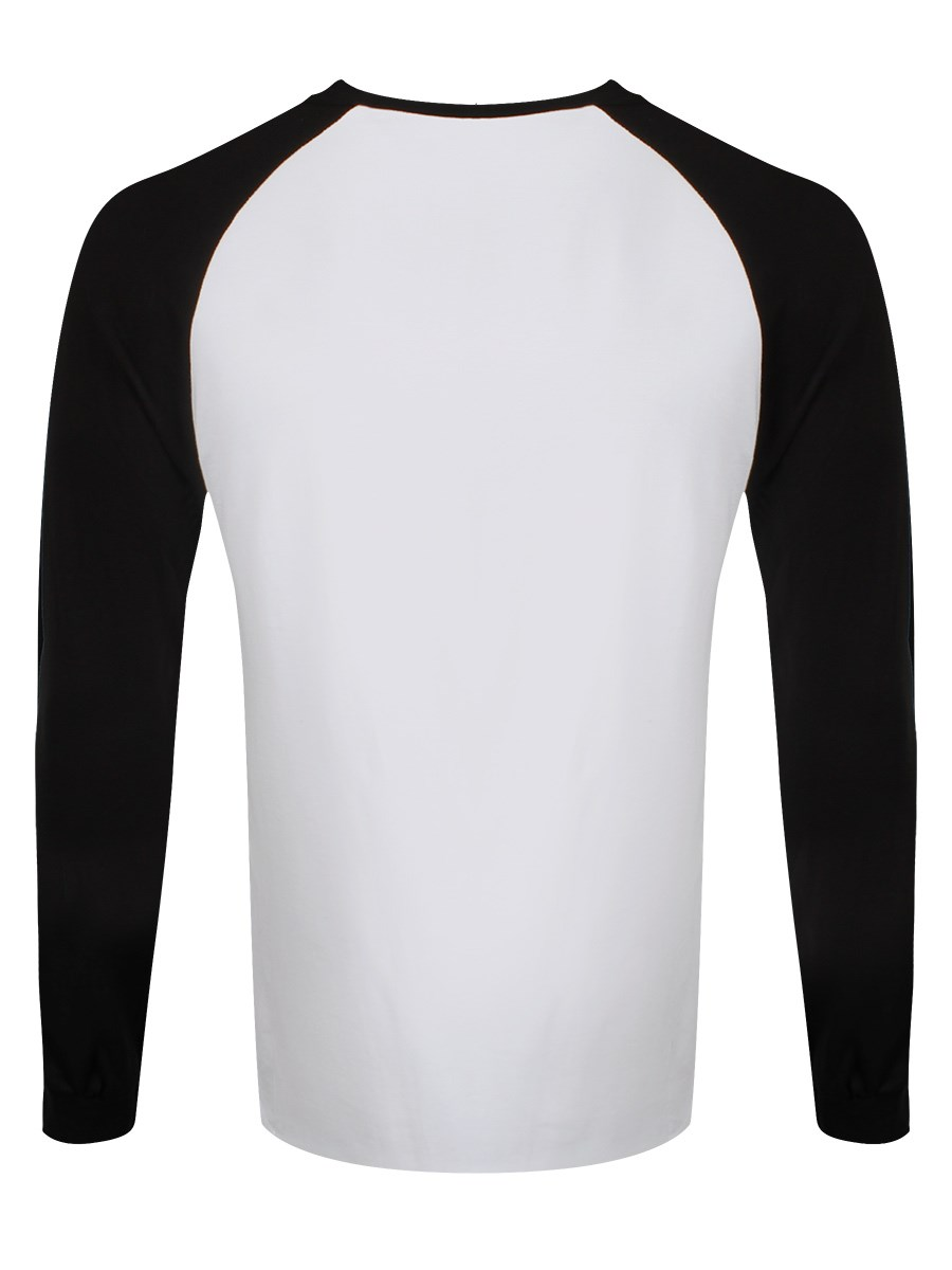 Black white shirt mens longsleeve baseball buy for Best white shirt mens