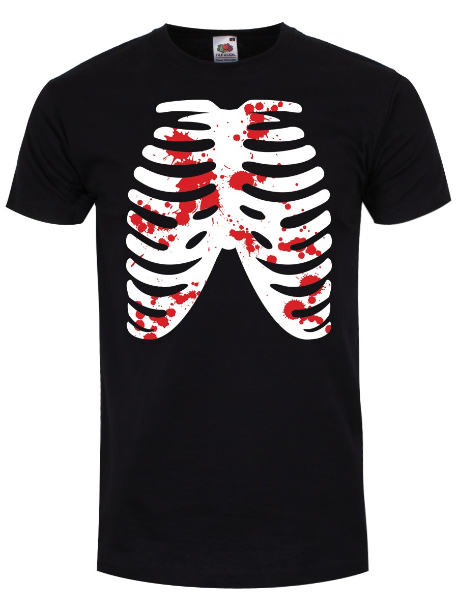Ribs T-Shirt - Skeleton Black Mens - Buy Online at ...