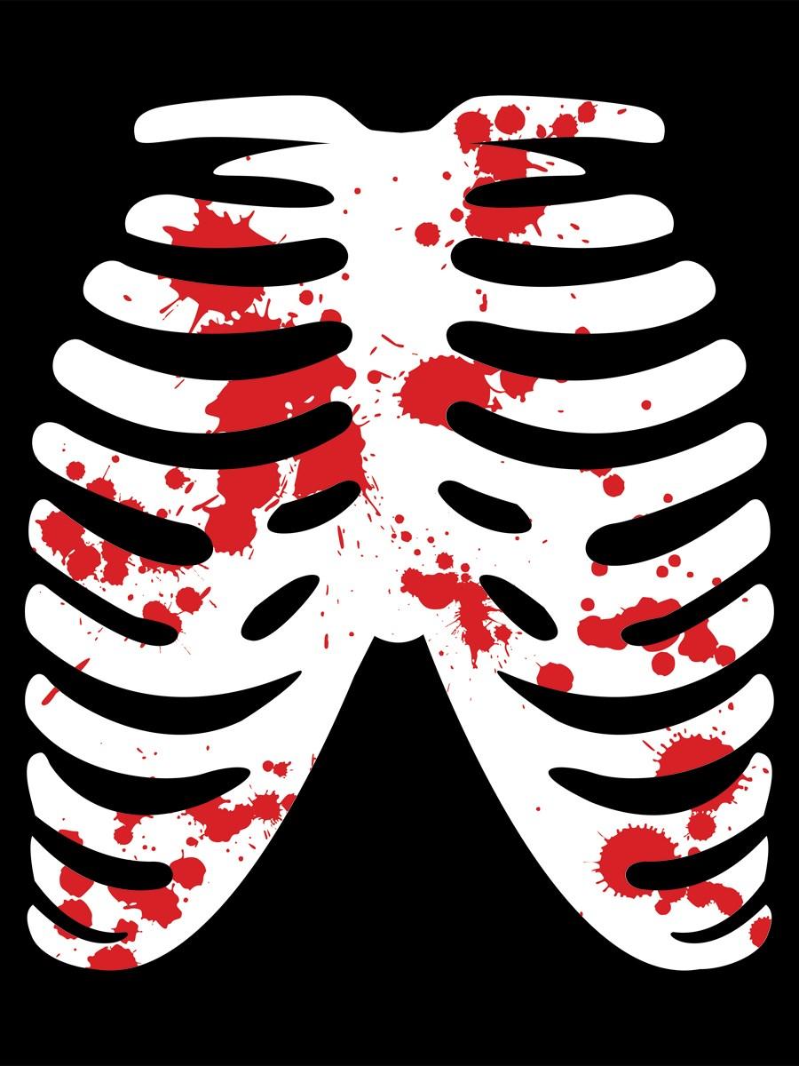 Ribs T-Shirt - Skeleton Black Ladies - Buy Online at ...
