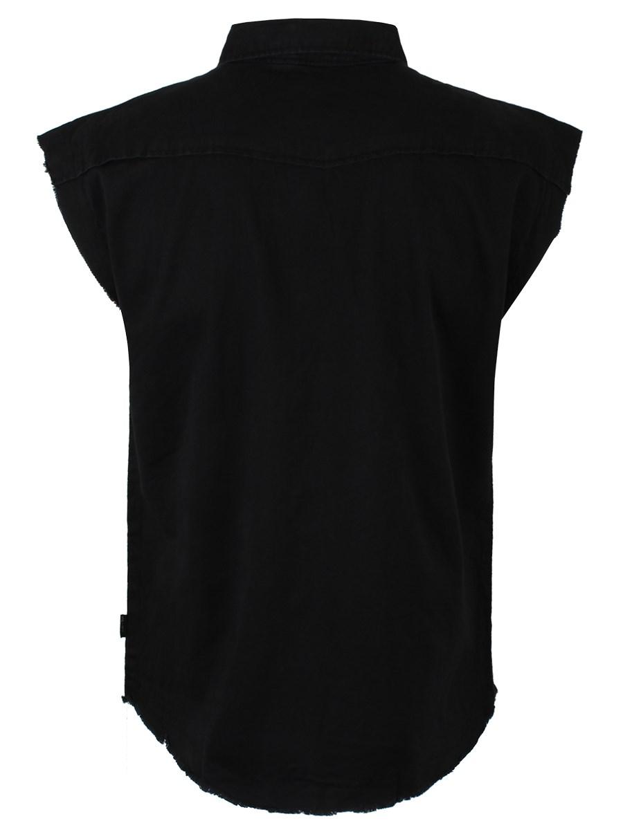 T shirt plain white back - Spiral Sleeveless Work Shirt Plain Black