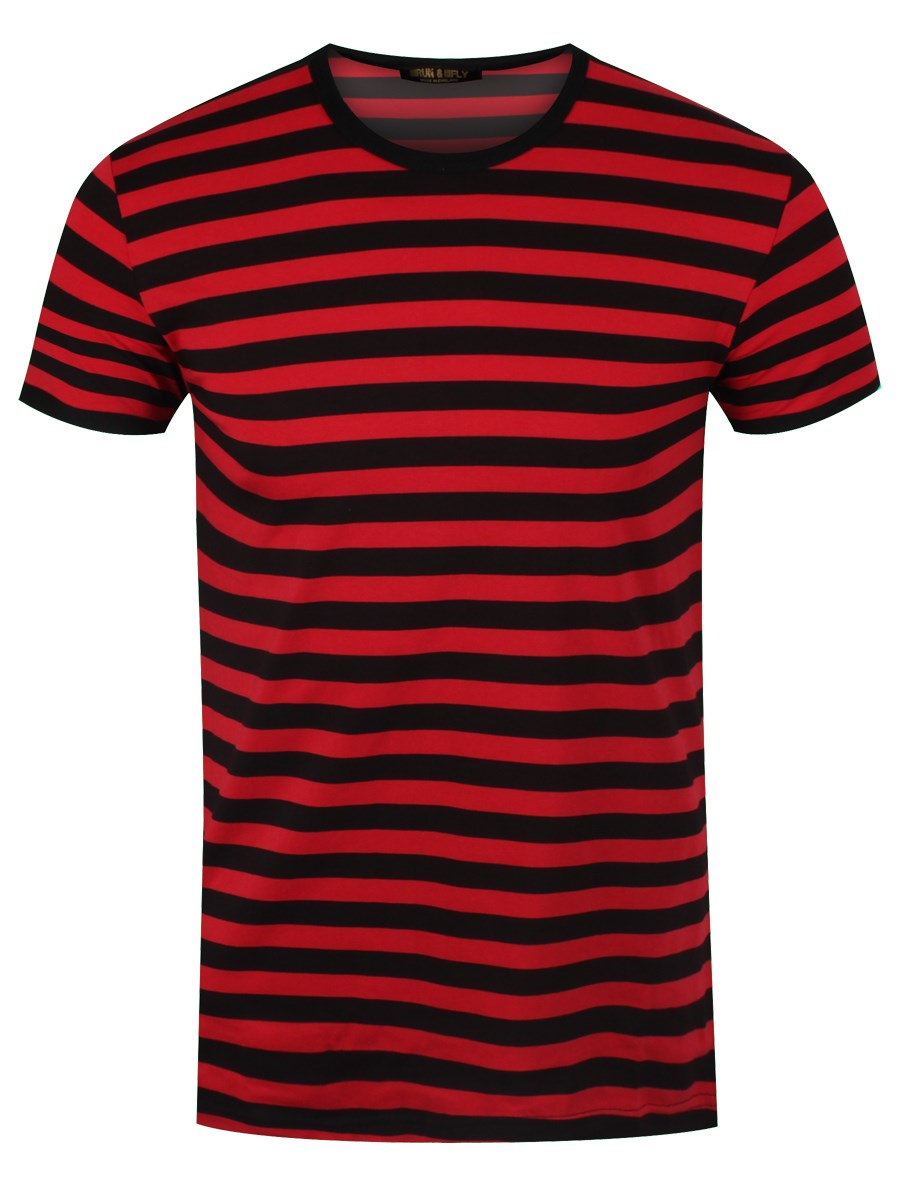 Black and red striped t shirt buy online at grindstore
