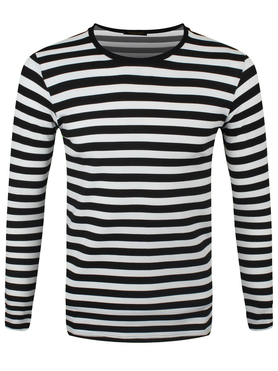 Striped Black and White Long Sleeved T-Shirt - Buy Online at ... 7ccabdc6bc7