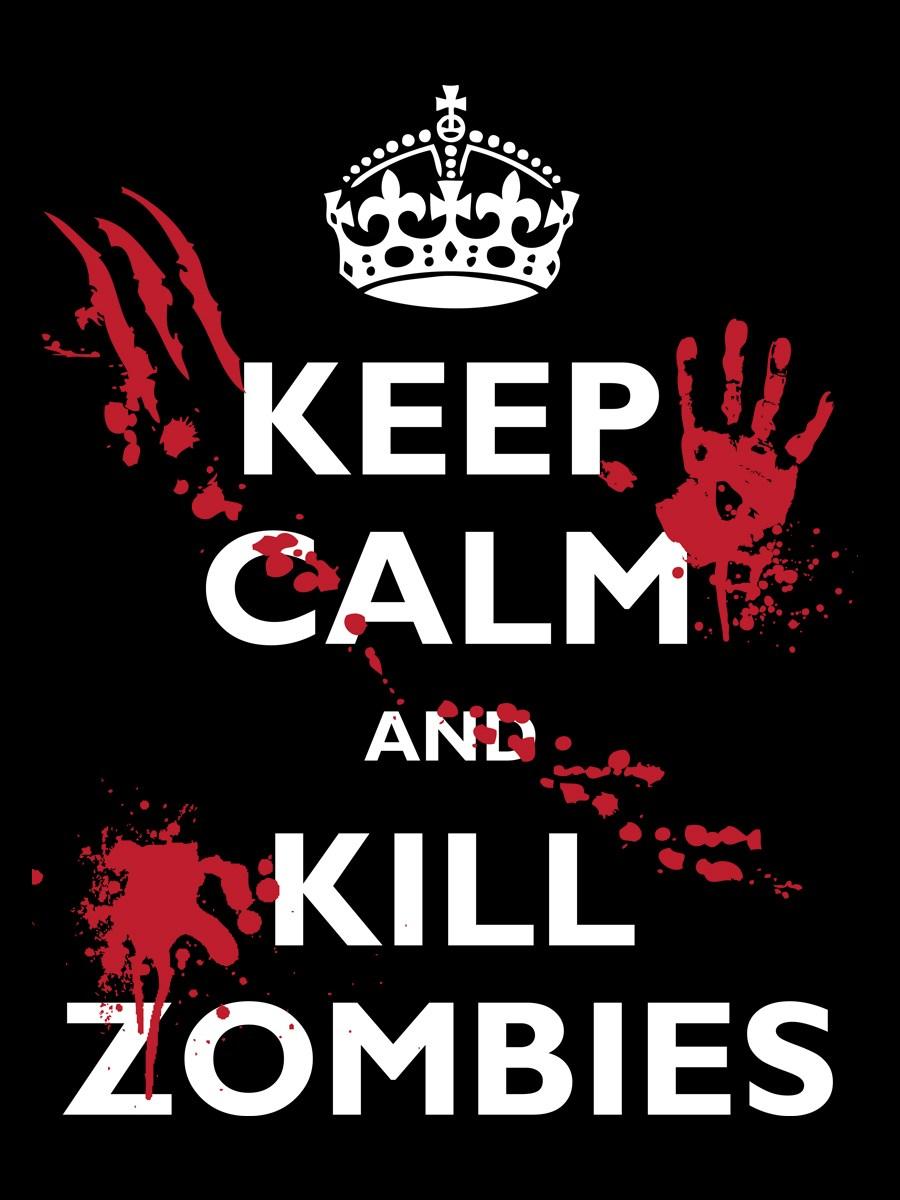 T shirt design keep calm - Keep Calm And Kill Zombies Men S Black T Shirt