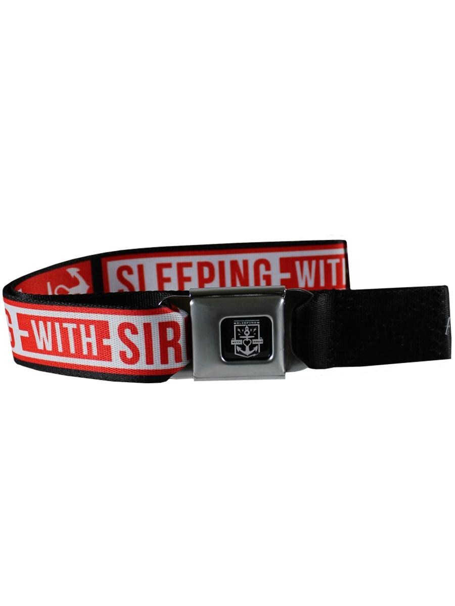 Sleeping With Sirens Anchor Logo Seatbelt Belt - Buy ...