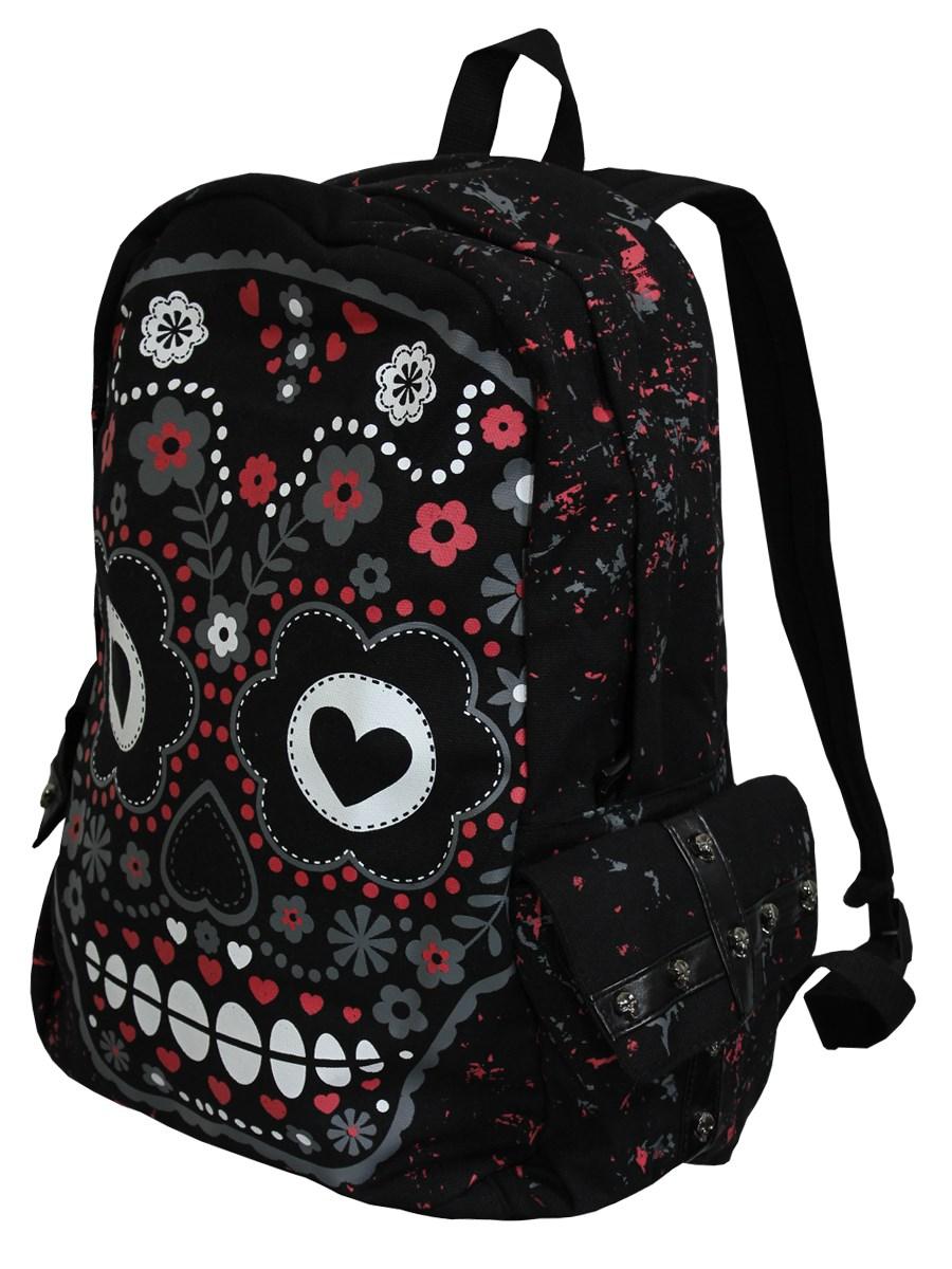 Banned Sugar Skull Backpack - Buy Online