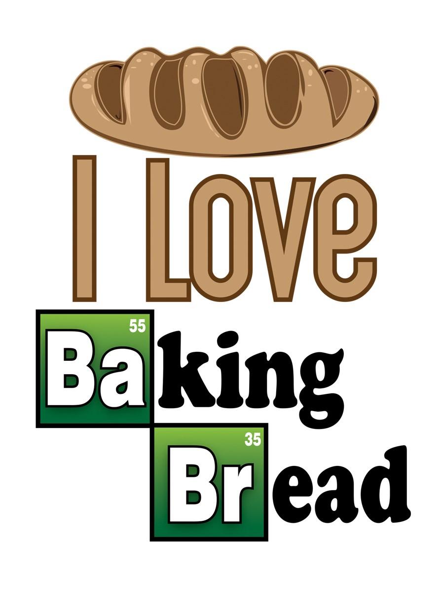 White apron brea - I Love Baking Bread Apron