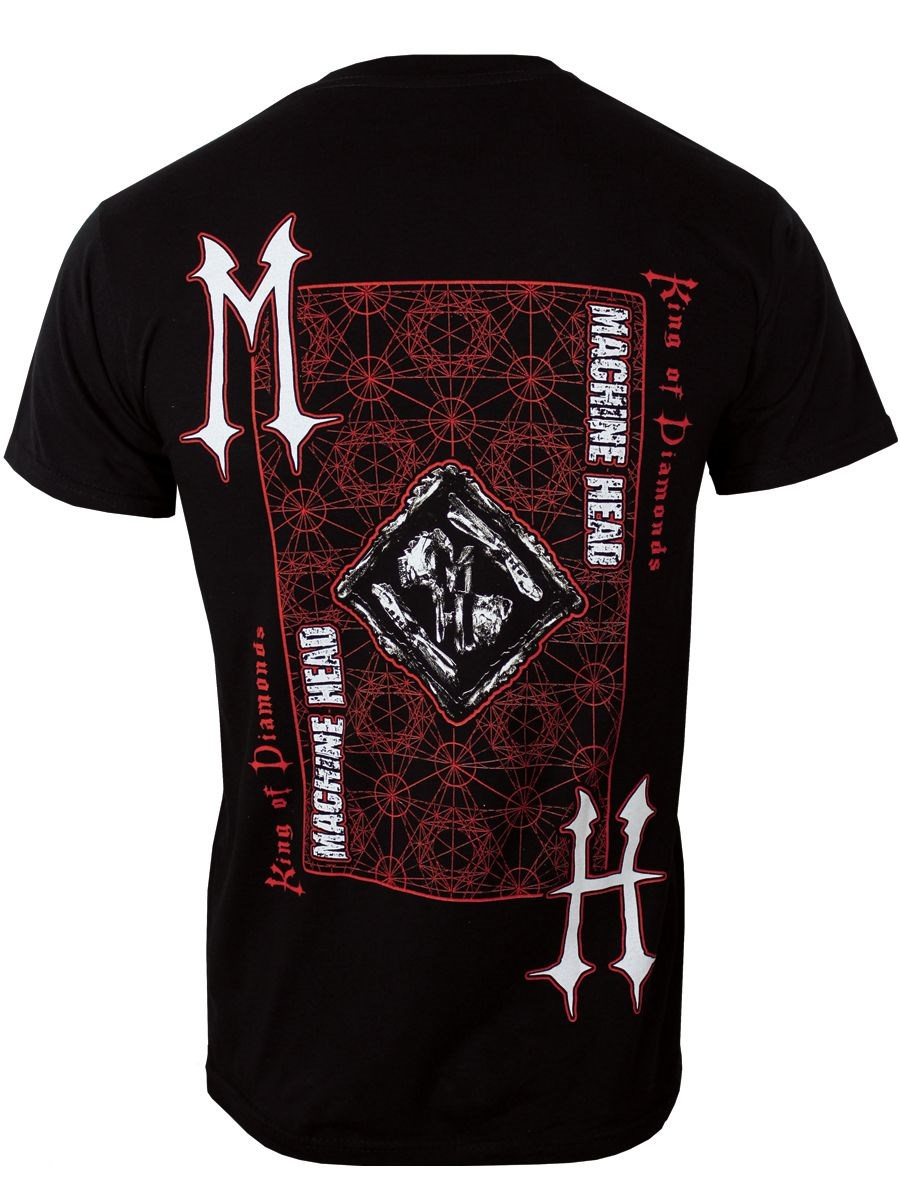 Machine Head Lion King Of Diamonds Card Black T Shirt New Official Band Merch