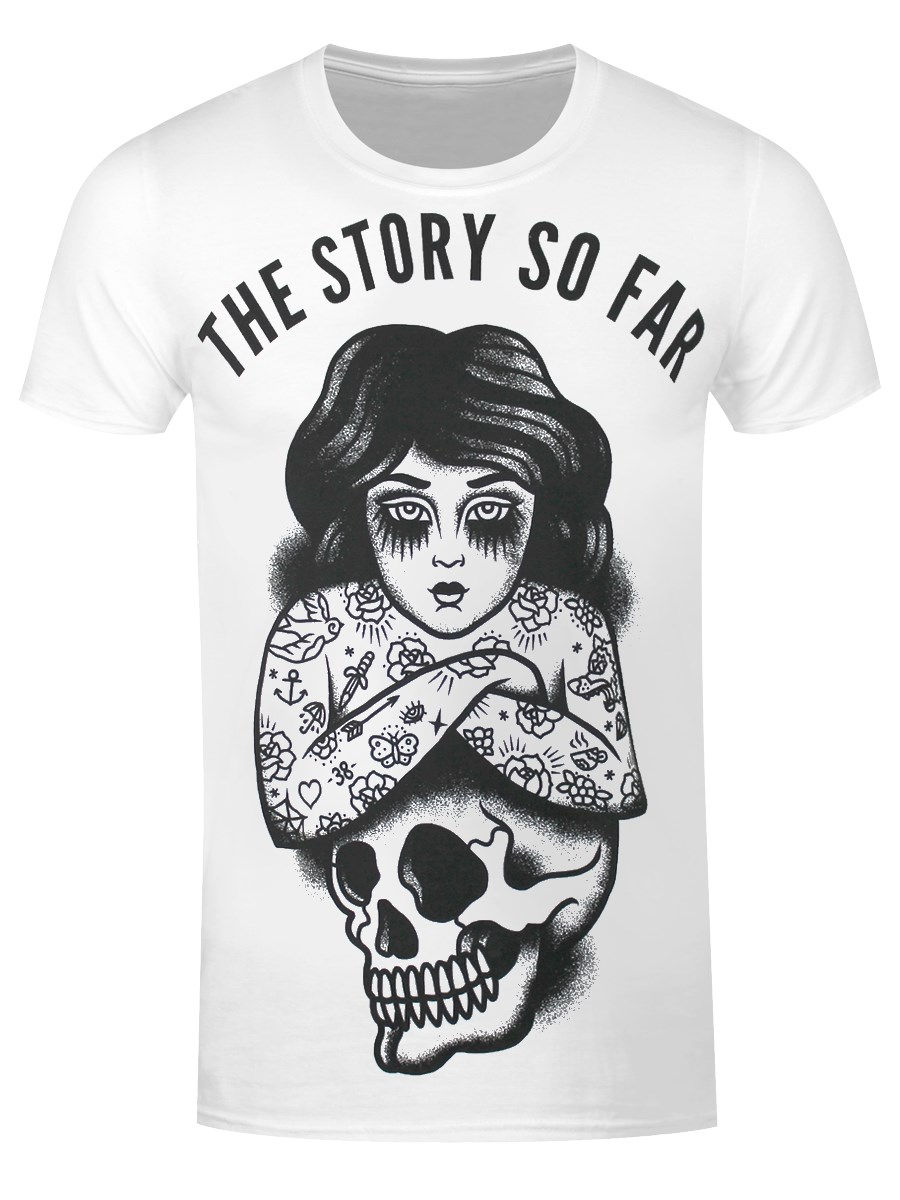 4e6e2c89291 The Story So Far Skull Girl Men s White T-Shirt - Buy Online at ...