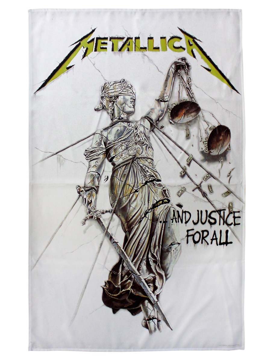 Metallica And Justice For All Textile Flag - Buy Online at ...