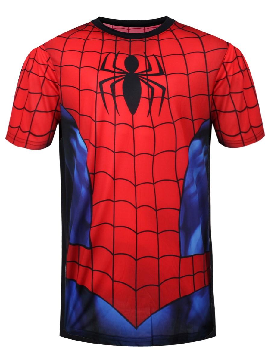 ec0639981 Marvel Spiderman Full Print Costume T-Shirt - Buy Online at ...