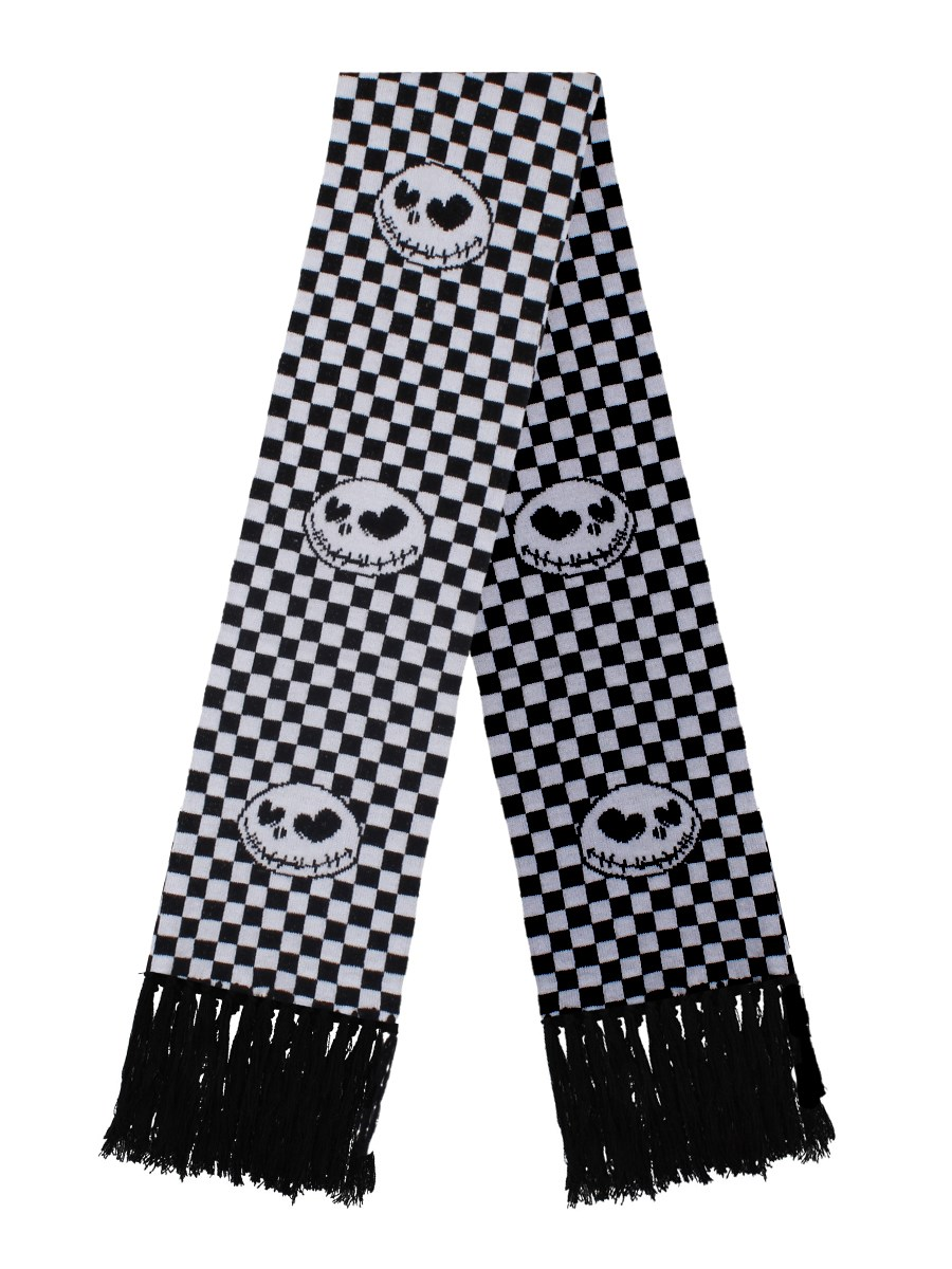 Nightmare Before Christmas Checker Scarf - Buy Online at Grindstore.com