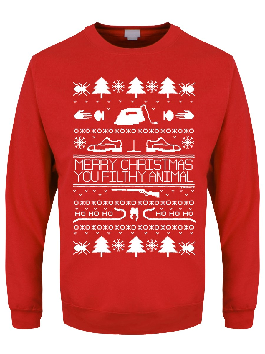 0f1a9f4b624 Merry Christmas You Filthy Animal Fair Isle Men s Red Sweater - Buy ...