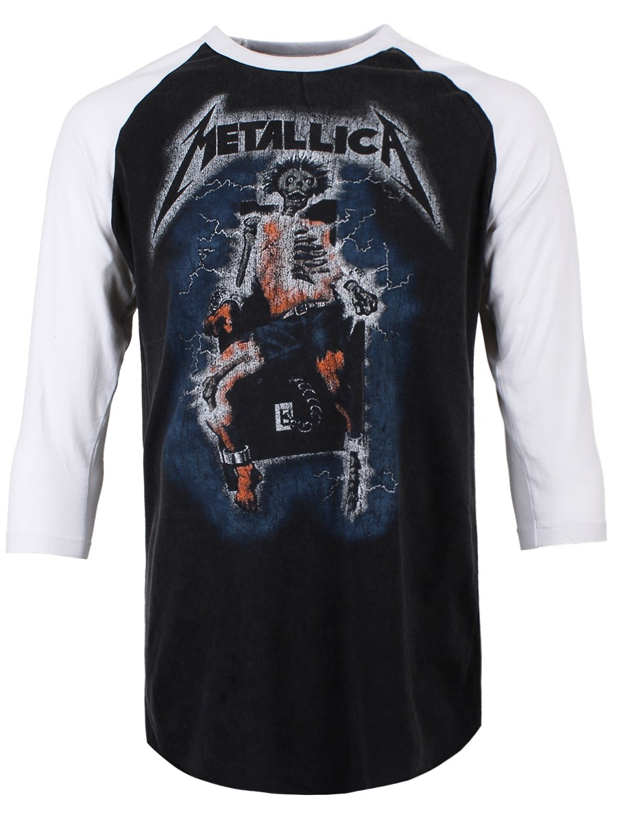 18f665f1268 Metallica Vintage Electric Chair Men s Baseball T-Shirt - Buy Online ...