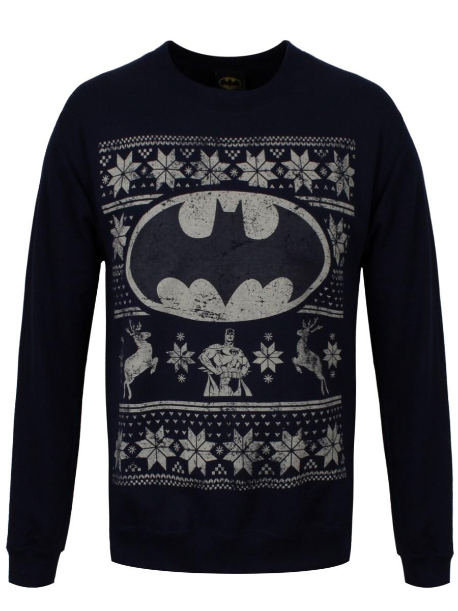 DC Comics Batman Fair Isle Logo Navy Sweatshirt - Buy Online at ... adc9eecf9adc
