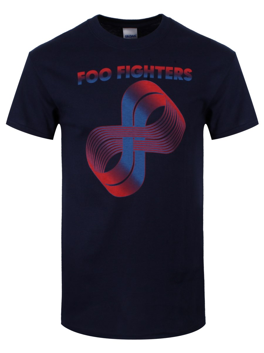 Foo Fighters Loops Logo Mens Navy T Shirt Buy Online At