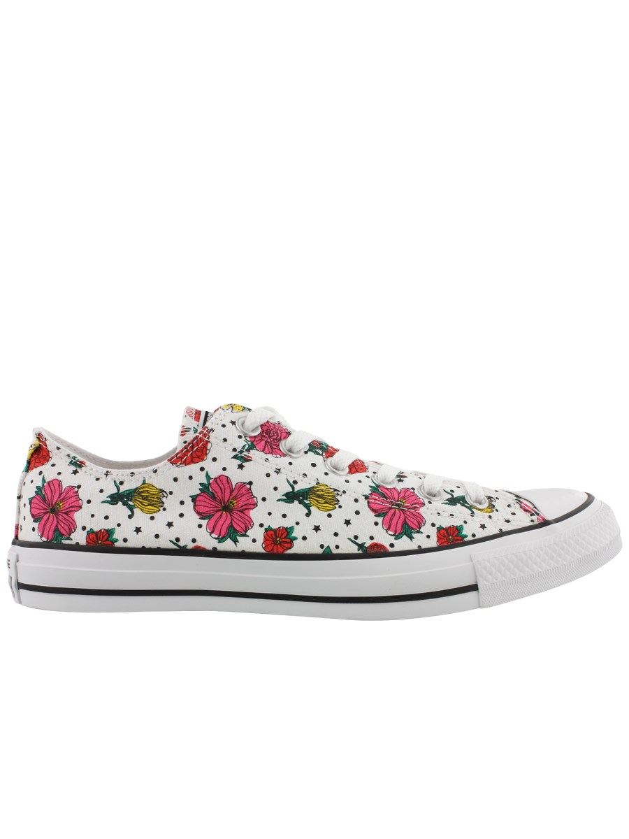 6aa31036bb Converse All Star Floral Polka Dot Print Womens Ox Trainers - Buy ...