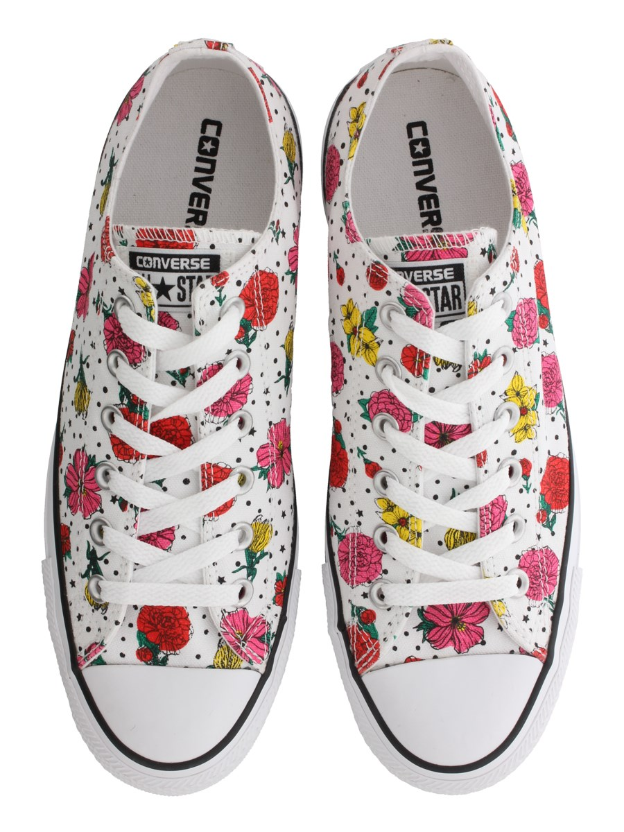 98781ec0ed8 Converse All Star Floral Polka Dot Print Womens Ox Trainers - Buy ...