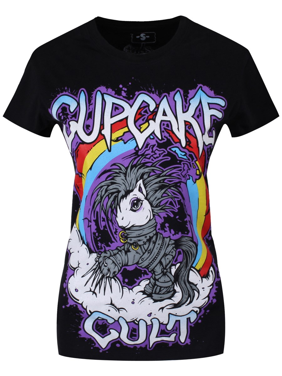 6cb7f5e210 Cupcake Cult Cloud Pony Ladies Black T-Shirt - Buy Online at ...