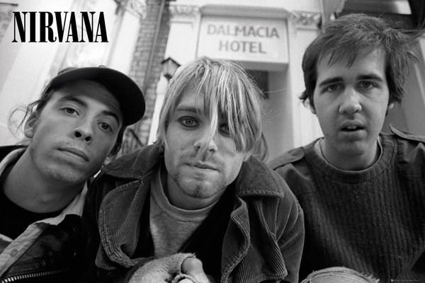Black White Nirvana Poster