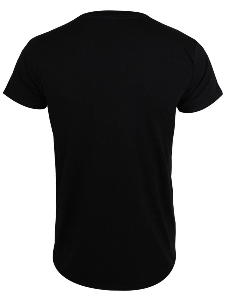 Black t shirt mens - Front Back Flat Design