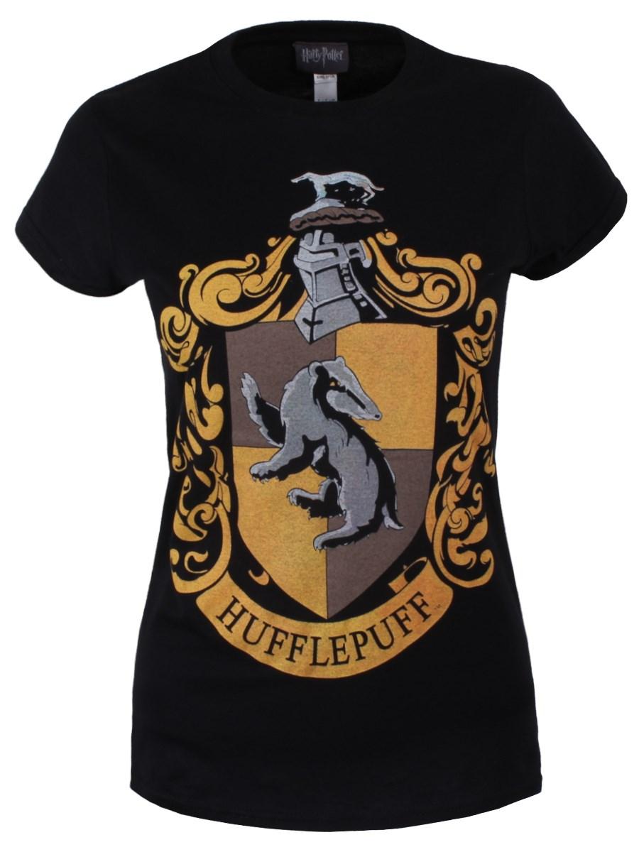 419a1ea5 Harry Potter Hufflepuff Ladies Black T-Shirt - Buy Online at ...