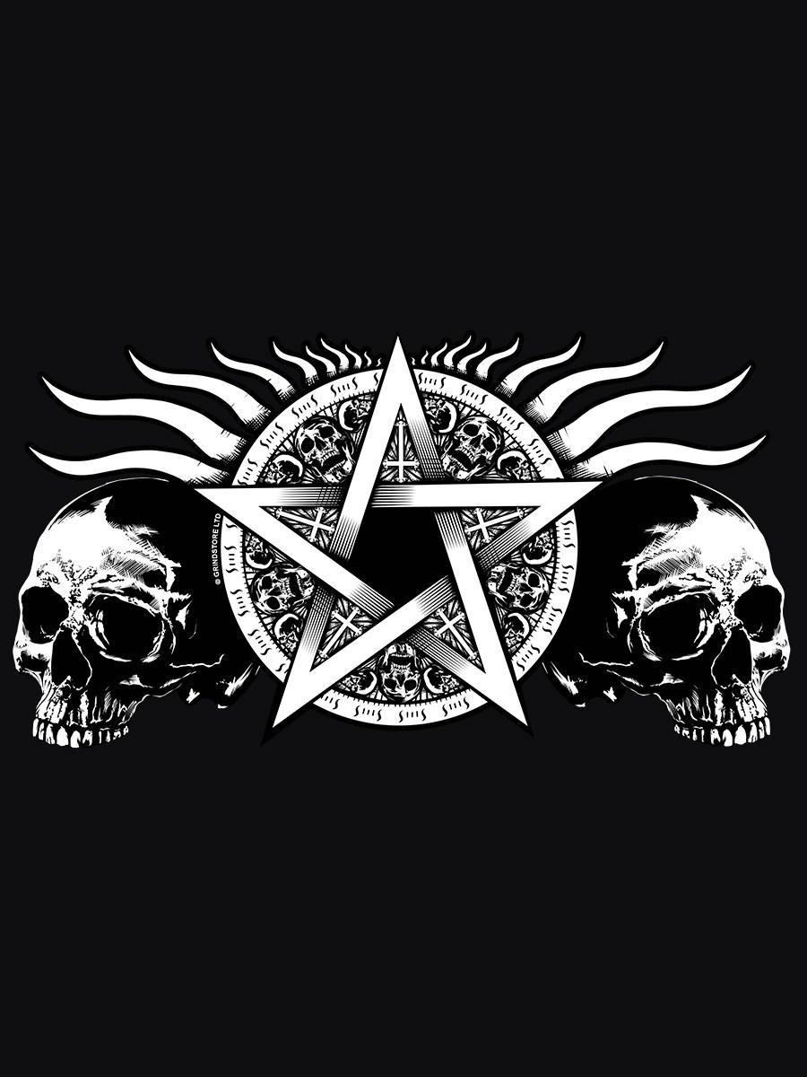 Skull Pentagram Black Messenger Bag Buy Online At