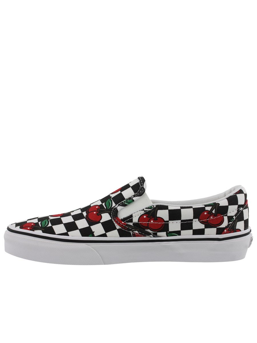 5b16f0730a76 Vans Classic Slip-On (Laceless) Cherry Checkers Trainers - Buy ...
