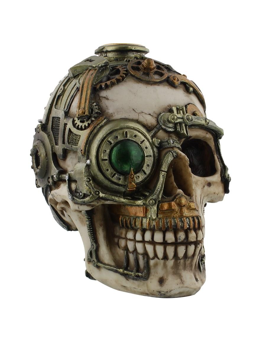 anne stokes steampunk skull candle holder buy online at. Black Bedroom Furniture Sets. Home Design Ideas