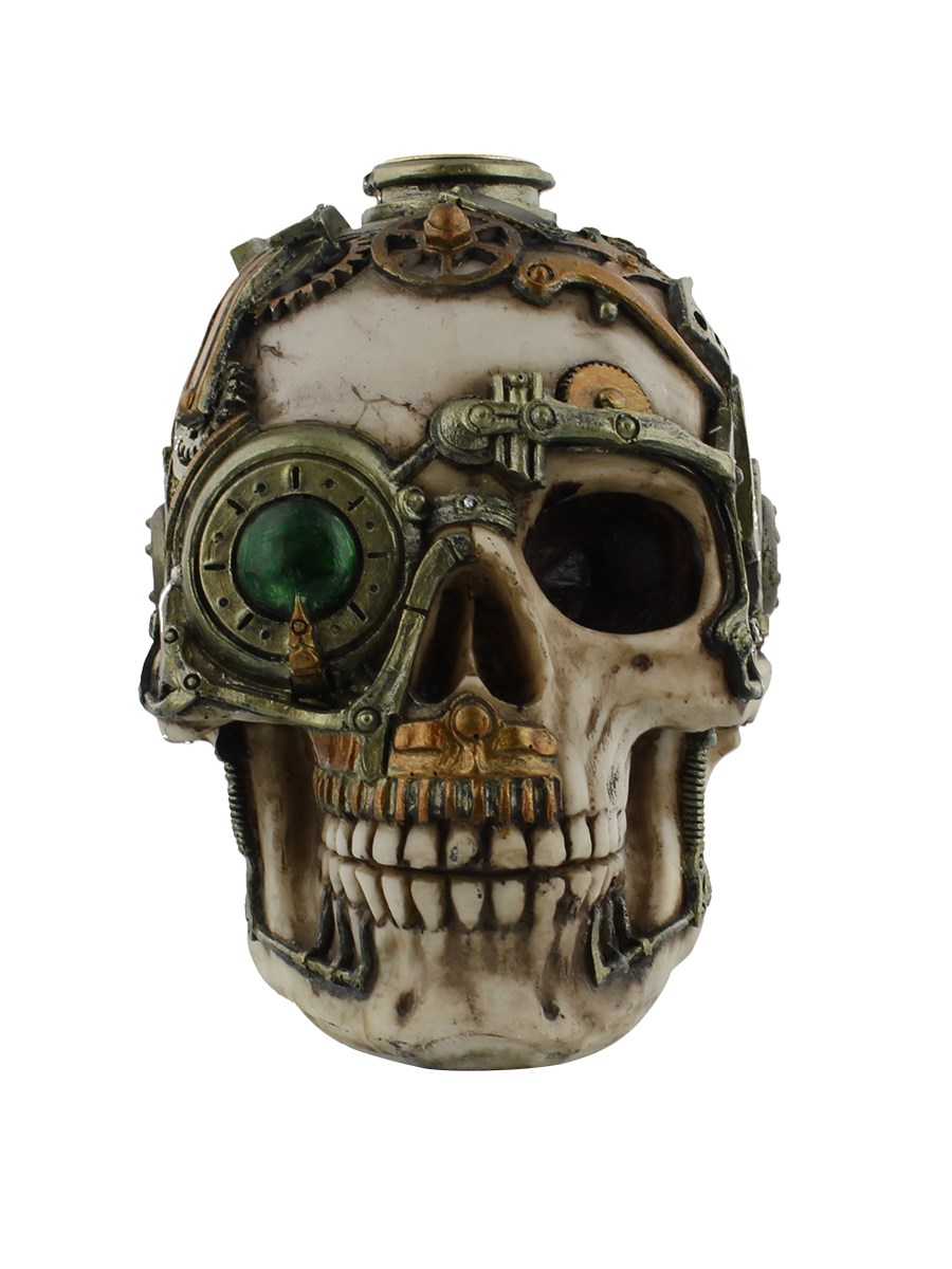 anne stokes steampunk skull candle holder  buy online at  - anne stokes steampunk skull candle holder