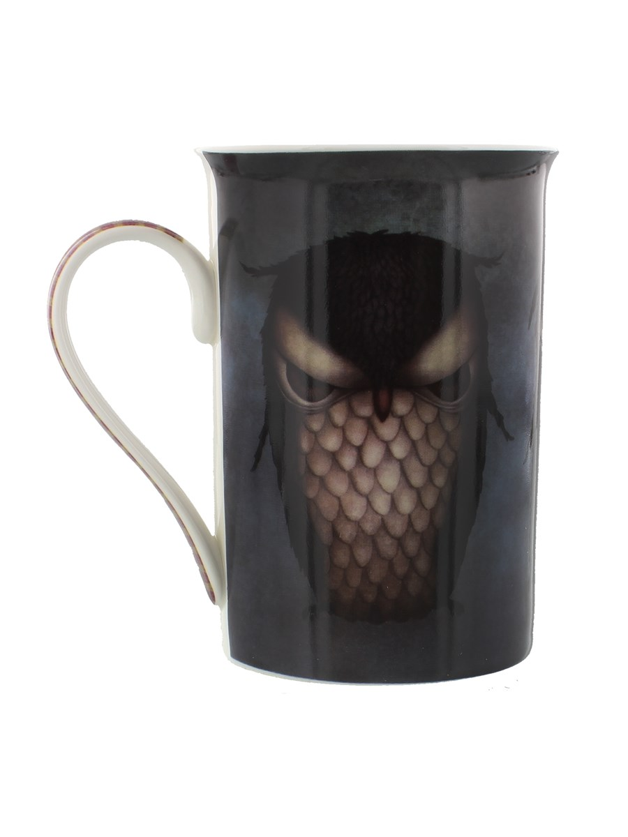 Santoro Eclectic Grumpy Owl Tall Mug Buy Online At