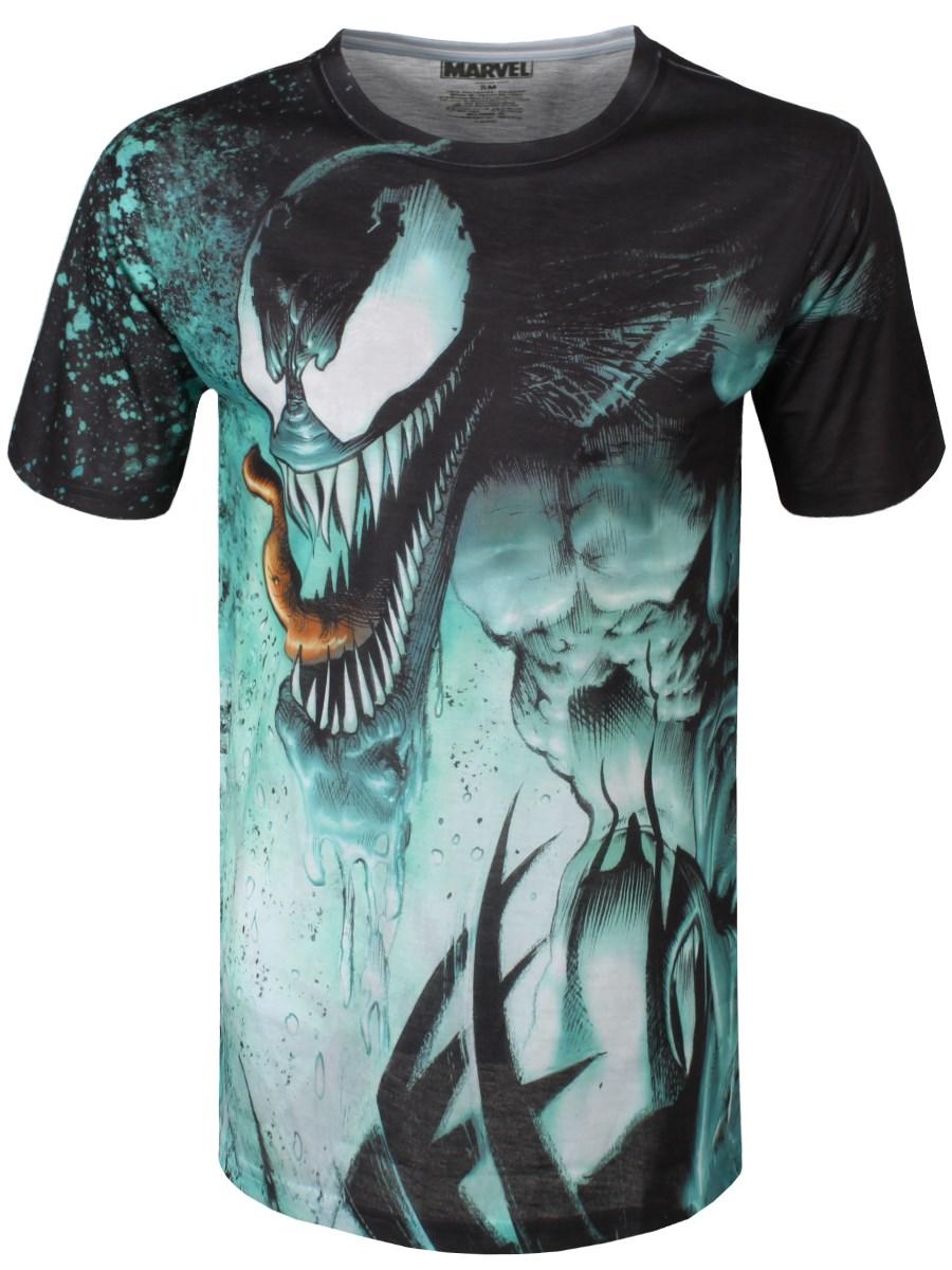 Marvel Venom Splat Mens All Over Print T Shirt Buy