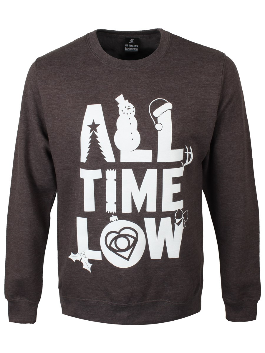 all time low logo mens grey christmas sweater buy