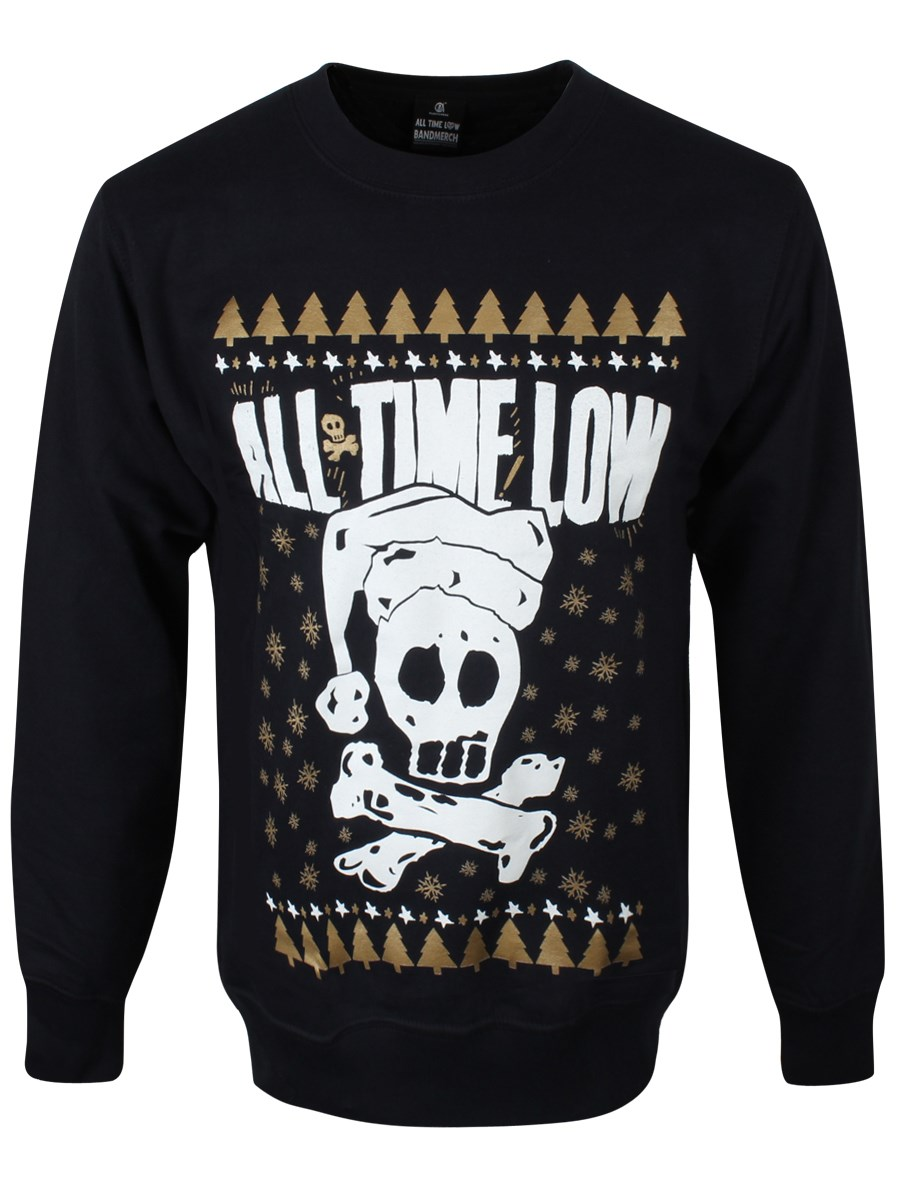 All Time Low Skull Navy Men's Christmas Sweater - Buy Online at ...