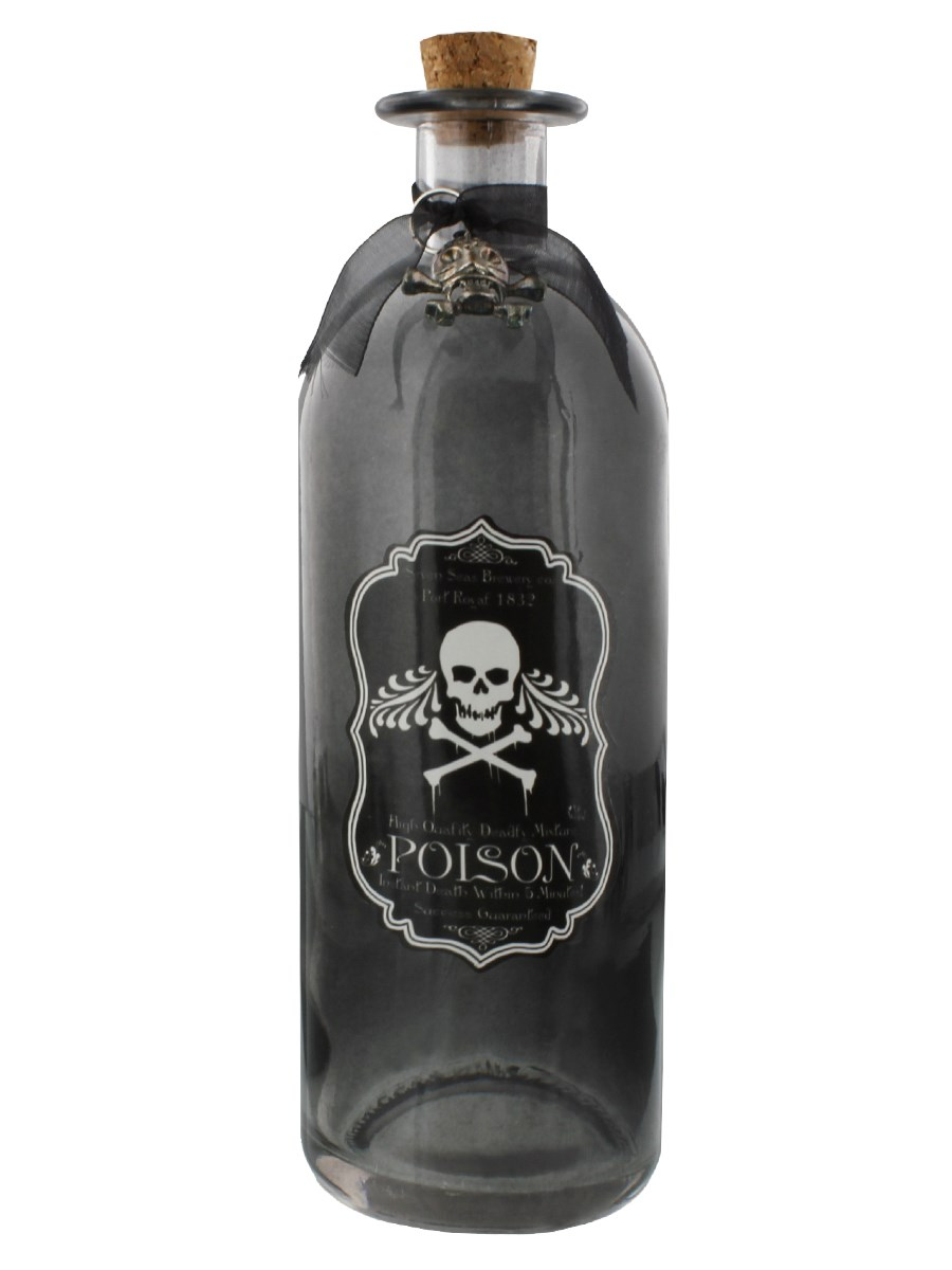 Poison Black Glass Bottle - Buy Online at Grindstore.com