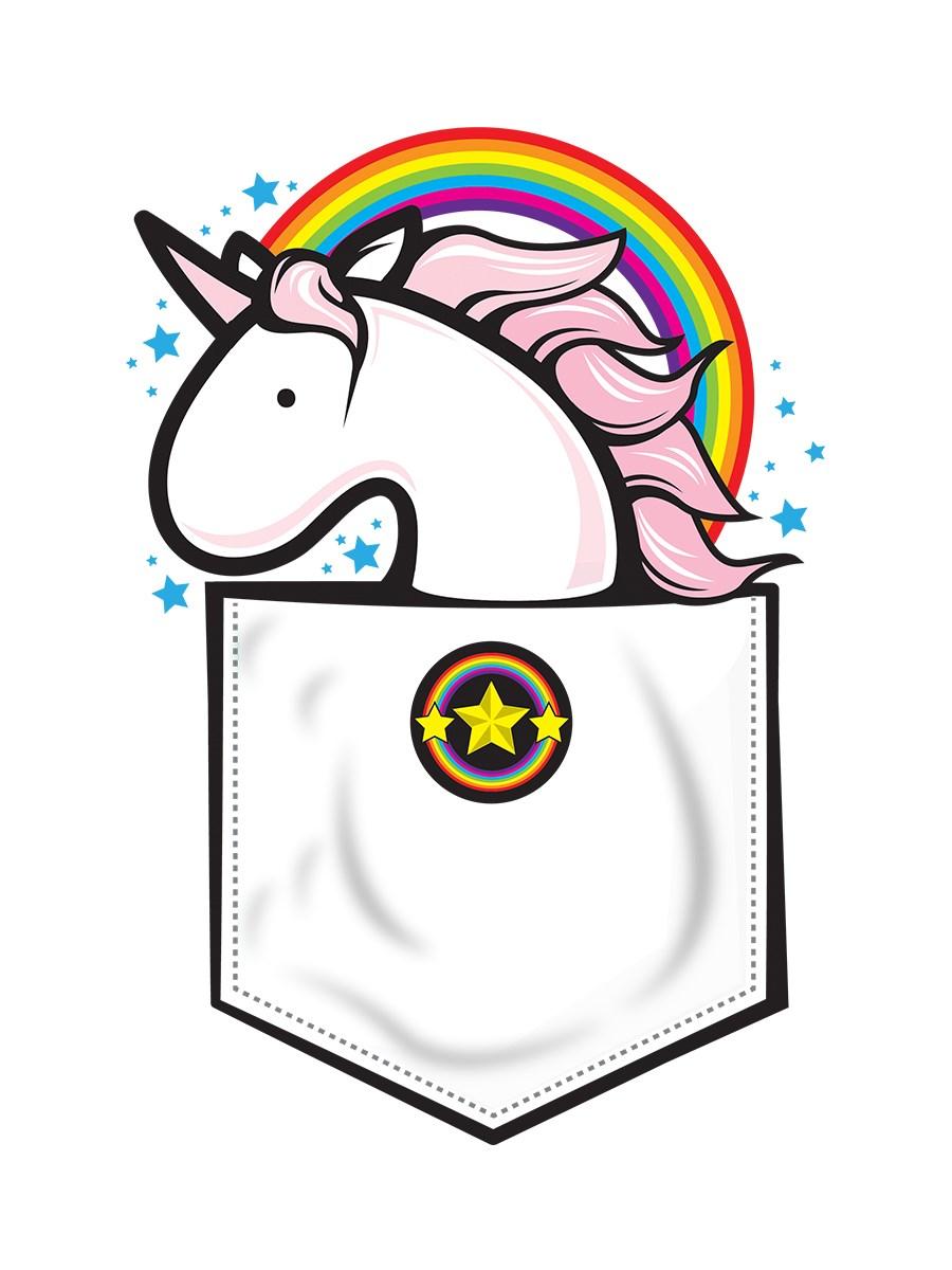 Blue apron unicorn - Unicorn In My Pocket Apron