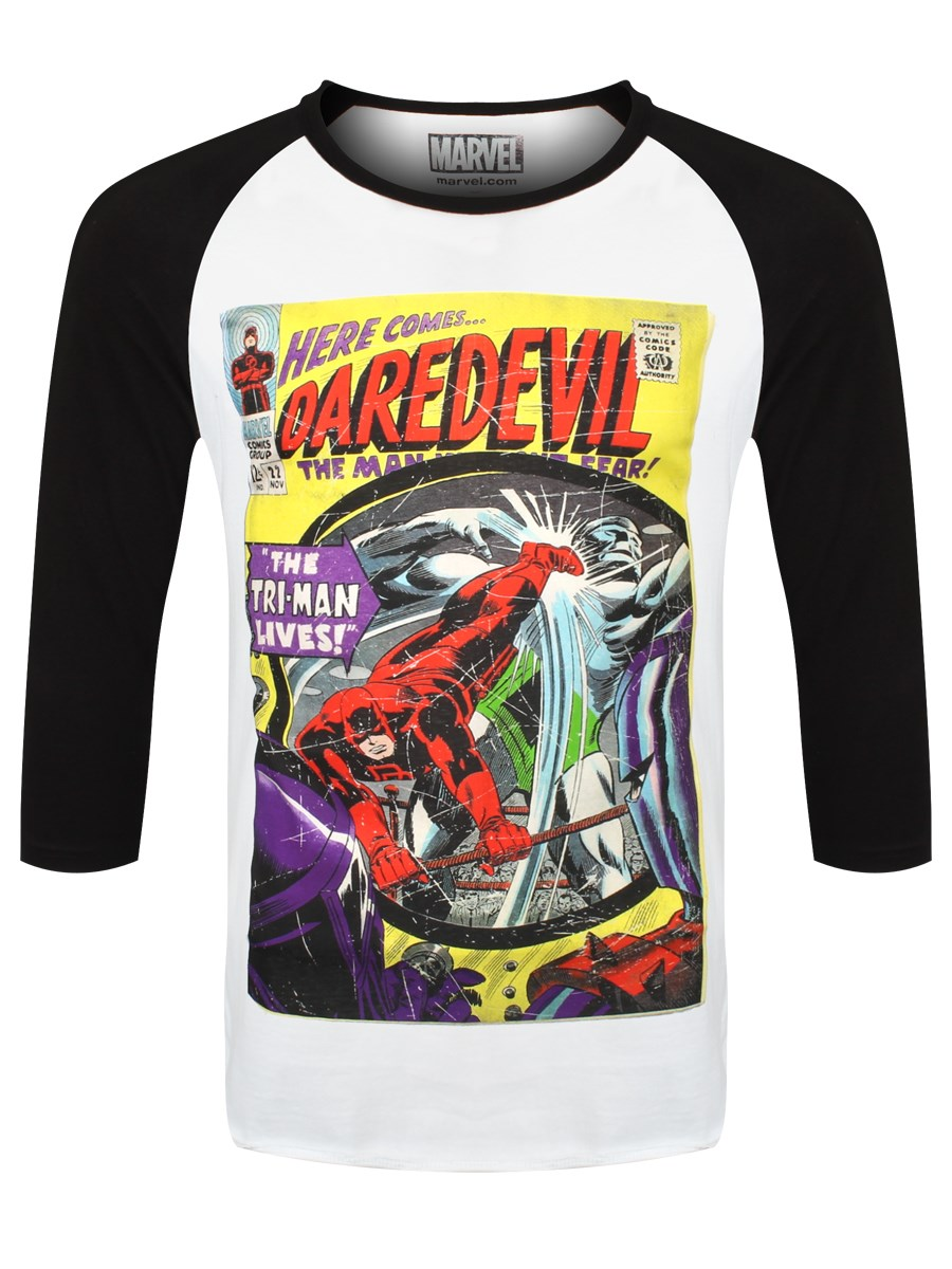 1a334666ea9b Marvel Comics Daredevil Comic Men s Raglan T-Shirt - Buy Online at ...