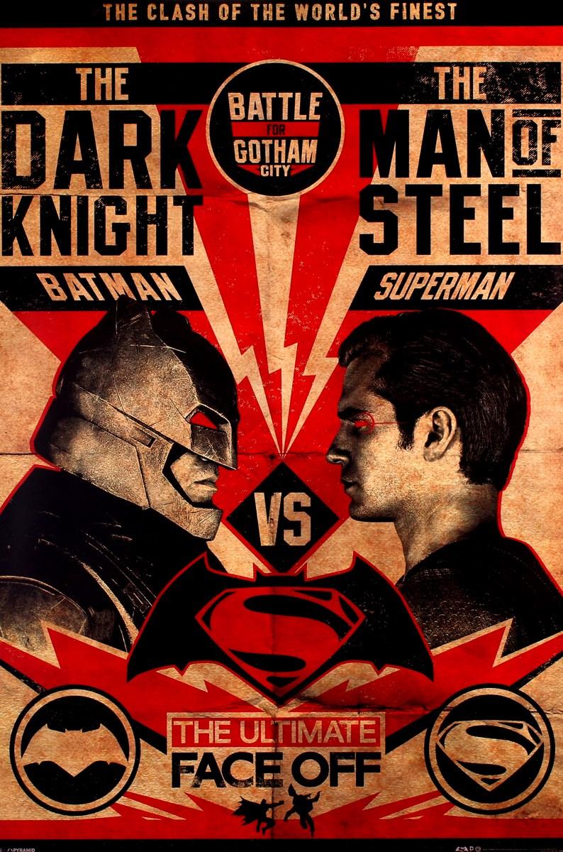 dc comics batman v superman fight poster buy online at. Black Bedroom Furniture Sets. Home Design Ideas