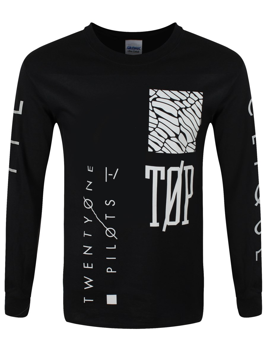 1d1059bd1bc37 Twenty One Pilots Emblem Men s Black Longsleeve T-Shirt - Buy Online ...