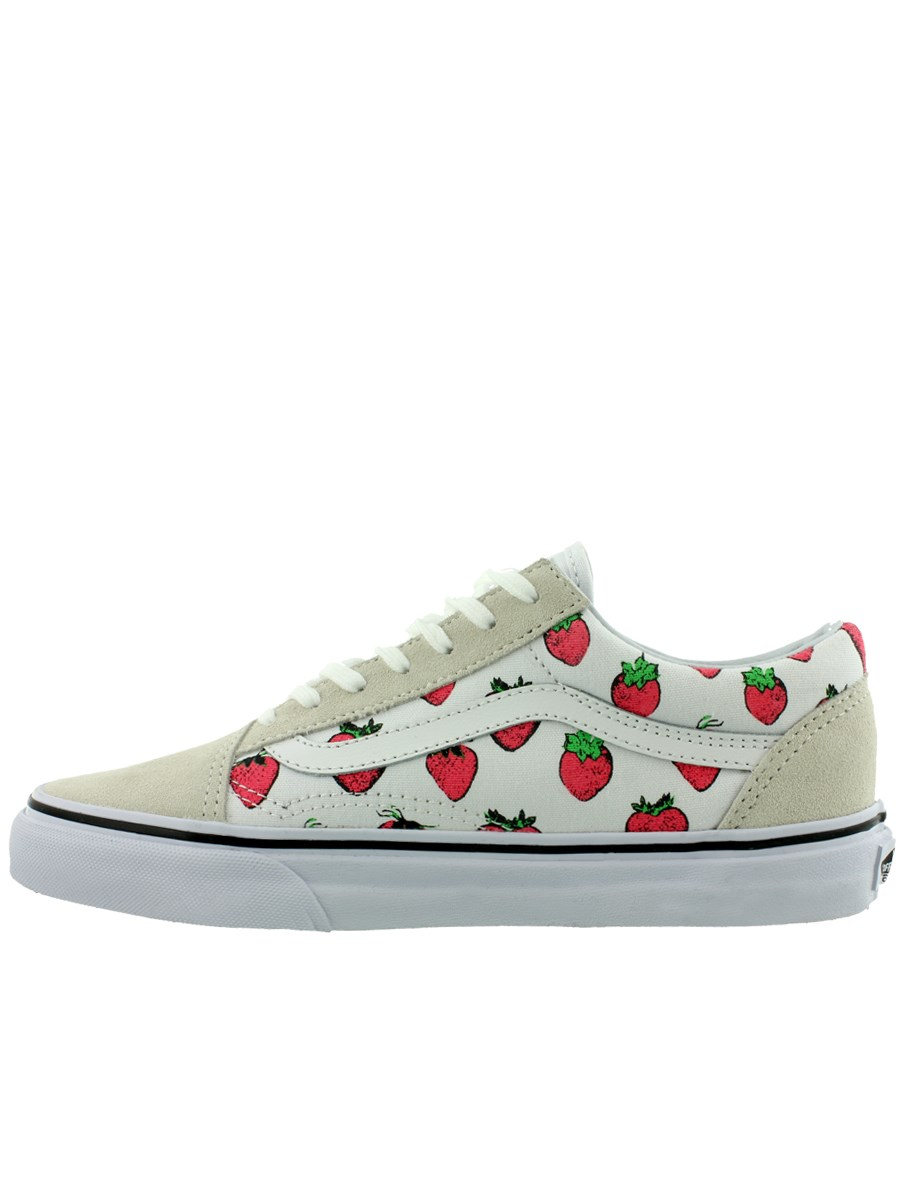 d86a8ab910 Vans Old Skool True White Strawberry Womens Trainers - Buy Online at ...