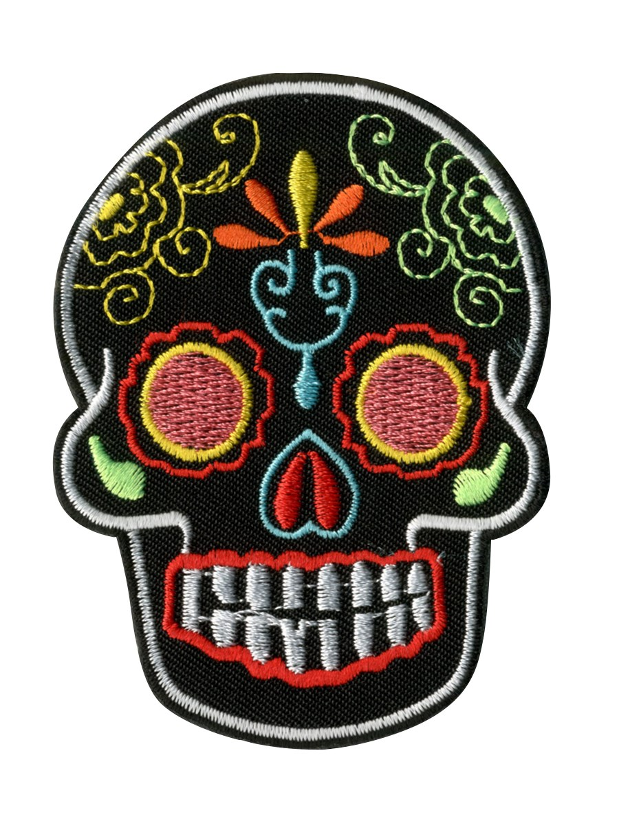 Black Sugar Skull Patch - Buy Online at Grindstore.com