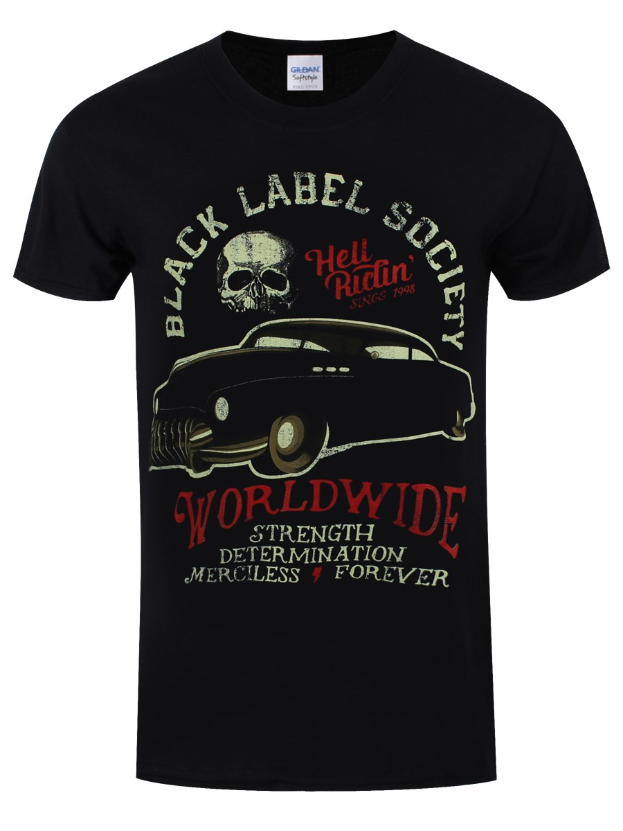 69803ad277d Black label Society Hell Riding Hot Rod Men s Black T-Shirt - Buy ...