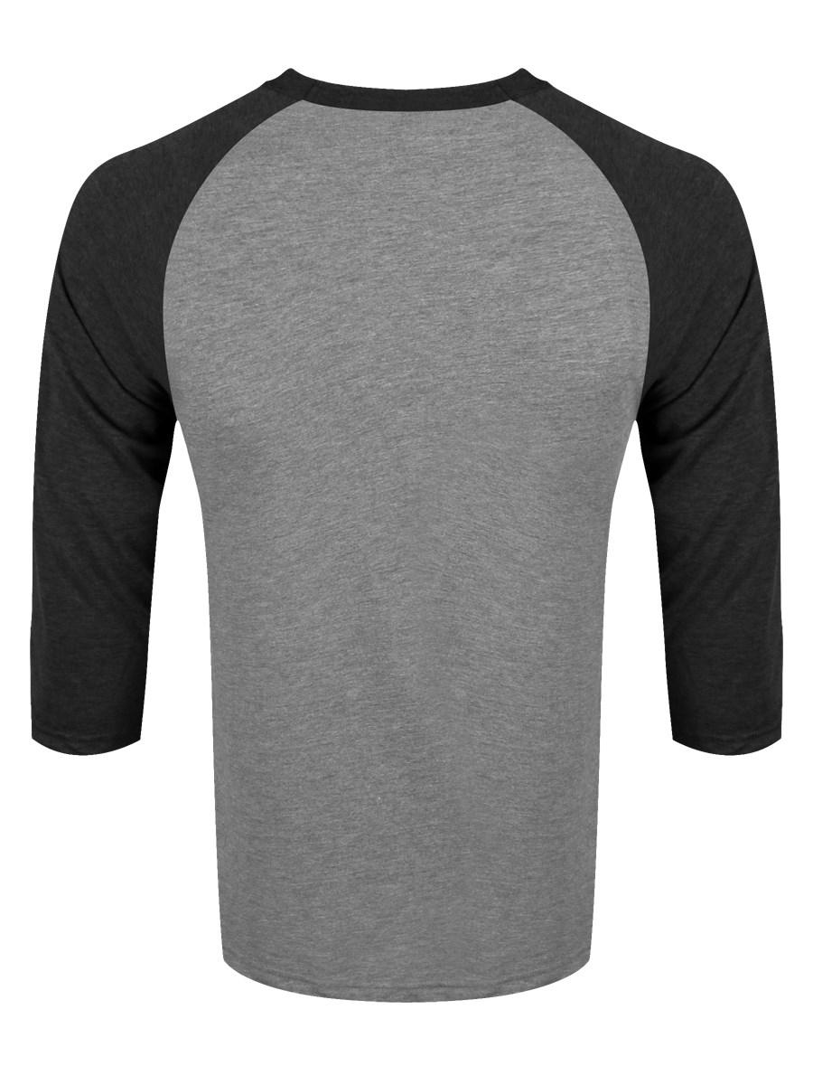 Heather grey dark heather grey men 39 s baseball t shirt Mens heather grey t shirt