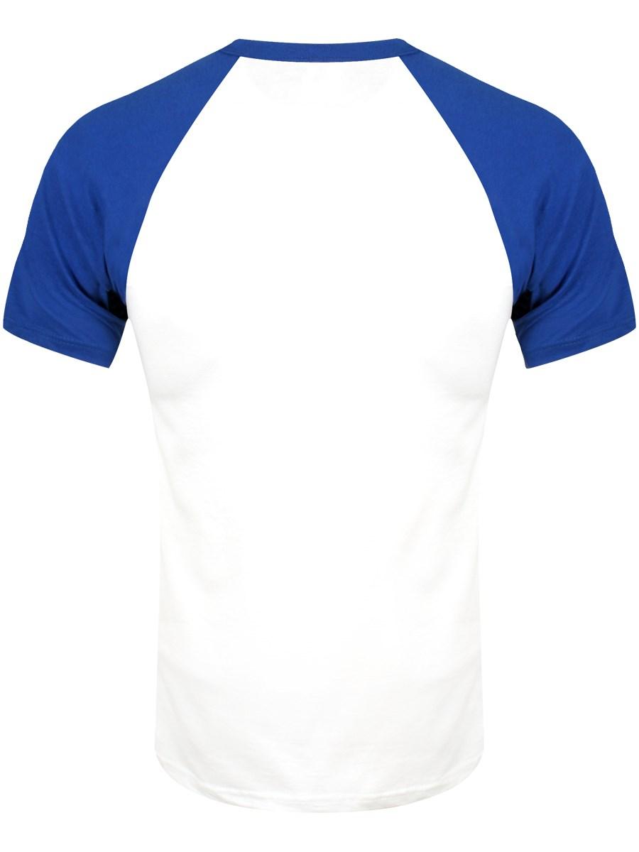 52f5e471c49 Men's Royal Blue   White Short Sleeve Baseball Shirt