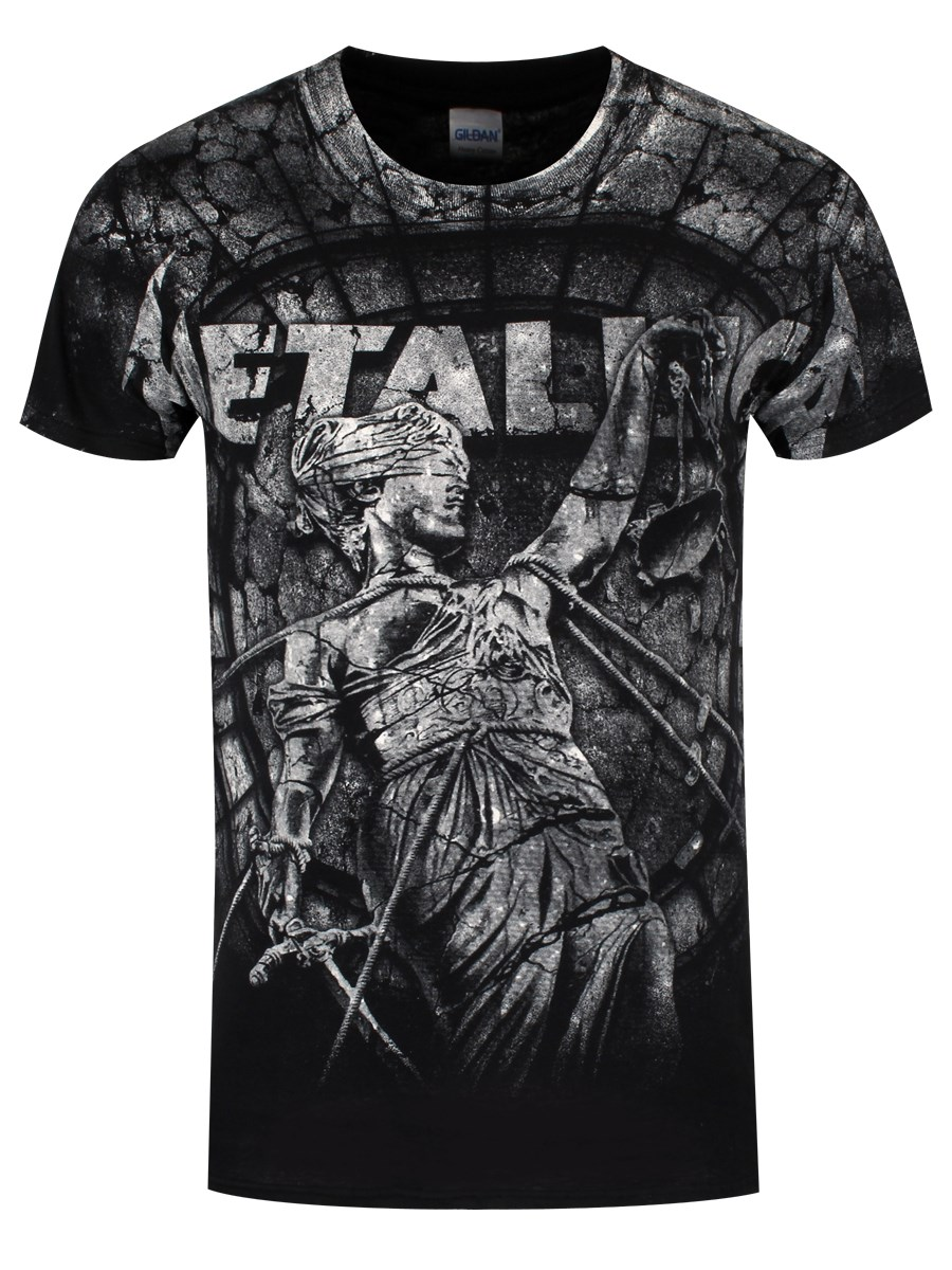 afd1c69d2f66 Metallica Stone Justice Men s Black T-Shirt - Buy Online at ...